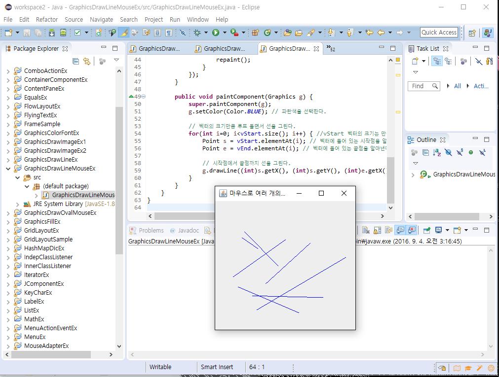 Drawing Lines Java : Online view java